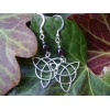 Handmade silver Triquetra Earrings