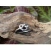 Handmade silver knotted heart