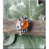 Silver Amber ring