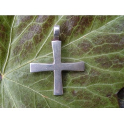 Handmade solid silver equal armed cross