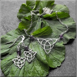 Silver Triquetra Earrings